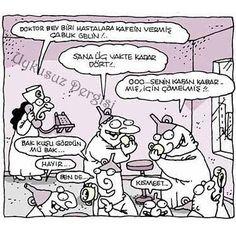 Üç vakte kadar dört #yenibok #karikatür #uykusuz #yiğitözgür #deliler #deli #delilik #delilikler #huni #hunililer #kahve #kahvefalı #kısmet