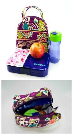 Vera Bradley print insulated tote. Perfectly compact for work or school.  Fits Yumbox 3e6734807a9d4