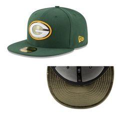 New Era 59Fifty NFL Green Bay Packers Metal Fit Flat Bill Fitted Hat #NewEra #GreenBayPackers