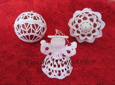 Box of a Dozen Handmade Exquisite Crochet Christmas