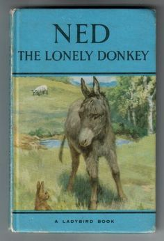 Ned the Lonely Donkey. A ladybird book. When I was about 5 or 6 this was my favourite book. I remember reading it over and over again.loved those Ladybird blue books as well as the Enid Blyton mystery series 1970s Childhood, My Childhood Memories, Childhood Stories, Horse Books, Ladybird Books, Vintage Children's Books, Book Series, My Books, Teen Books