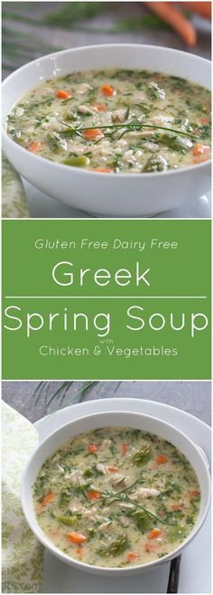Greek Soup with chicken and fresh vegetables is gluten free and dairy free. (Chicken Chili Whole 30)