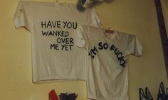 Two of the T-shirt designs Tracey Emin and Sarah Lucas sold in The Shop. Photograph: Carl Freedman/Tracey Emin, all rights reserved, DACS 20...