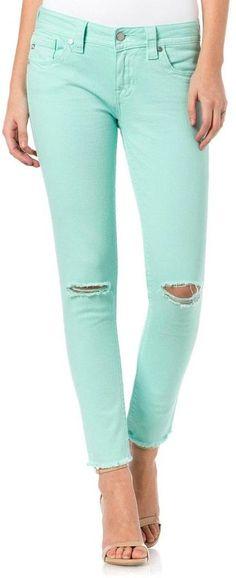 Miss Me Mint Skinny Jeans