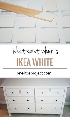 Ikea - Ikea Hacks What paint colour is closest to IKEA Hemnes white?  See photos of it compared to various paint swatches.