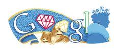Pin for Later: Happy Birthday, Google! 30+ of the Best Google Doodles June 2, 2012 Queen Elizabeth's Jubilee