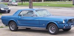 1966 ford mustang blue - Google Search
