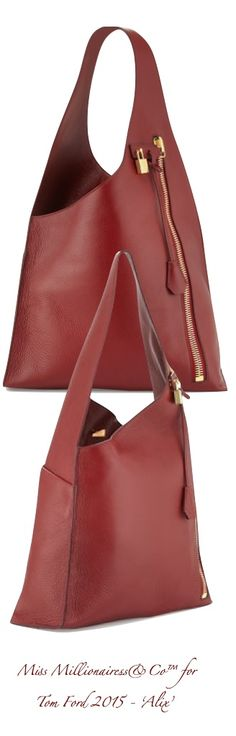 Tom Ford 2015 - 'Alix' Zip Hobo Bag With Side Zip Entry