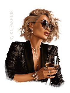 Pop Art Drawing, Cute Girl Drawing, Fashion Clipart, Illustration Girl, Illustration Artists, Cute Girl Wallpaper, Trendy Girl, Digital Art Girl, Dance Photography
