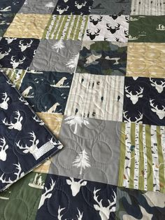 Dog Baby Quilt Duck Baby Bedding Hunting Crib Quilt