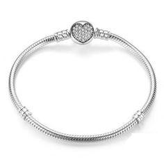 Heart Charm Bracelet in Snake Design – Rebecca May's