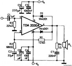 100w Btl Tda2030 Amplifier Circuit In 2019 Download Circuit Dc