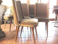 1 silla ( 6 disponibles) madera vintage retro años 60s 70s