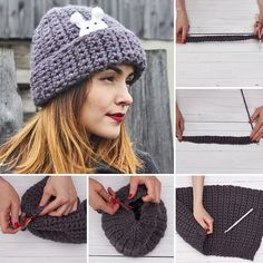 Crochet hat TUTORIAL   Вяжем крючком стильную шапочку