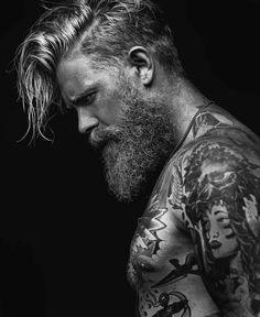 JOSH MARIO JOHN: For those who have been patiently waiting .my collaboration Muskoka balm with . Josh Mario John, Thick Beard, Sexy Beard, Beard Styles For Men, Hair And Beard Styles, Sexy Tattooed Men, Hot Beards, Viking Beard, Inked Men