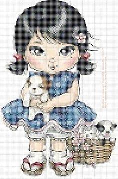 Materiales gráficos Gaby: Varios modelos de muñecas para bordar