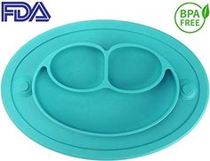 Feeding Bowls & Plates Responsible Giggle Burp Majestic Blue Suction Portable Placemat For Toddlers Toddler To To
