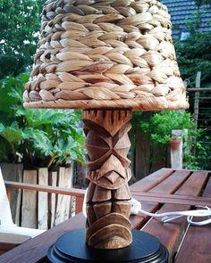 """49 Likes, 2 Comments - Micha (@krazytikiart) on Instagram: """"tiki lamp for tiki,sailor & hula exhibition"""""""