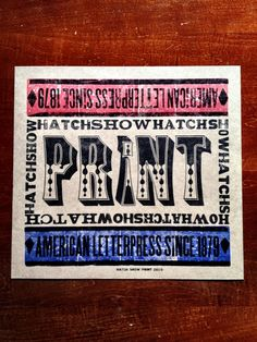 From my Hatch Show Print collection.