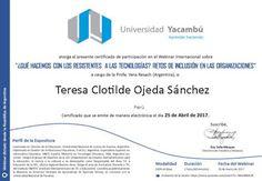 Teresa Clotilde Ojeda Sánchez: ¿Qué hacemos con los resistentes a las tecnologías...