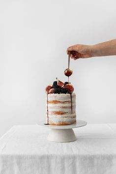 Blackberry and Fig Buttercream Cake