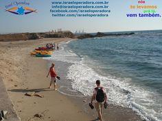 Um dos lugares mais lindos de Israel: Cesareia maritima, com suas belas praias, banhadas pelo Mar Mediterraneo.