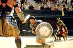 [US] Gladiator - A Roman general reduced to life as a slave must dominate the arena as a gladiator in order to have vengeance against the man who condemned him to die. Starring Russell Crowe with Joaquin Phoenix. Gladiator 2000, Gladiator Arena, Gladiator Movie, Joaquin Phoenix, Best Action Movies, Good Movies, Sven Ole Thorsen, Russell Crowe Gladiator, Best Actor Oscar