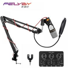 Buy FELYBY Professional Mic Studio Mikrofon Karaoke Gaming Condenser Microphone for Computer/Phone Recording with Pop Filter Desktop Computers, Laptop Computers, Computer Laptop, Technology Lessons, Computer Technology, Karaoke, Recording Equipment, Usb, Shopping
