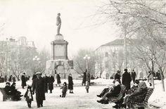 Куйбышев. Площадь Революции. Фотография. Январь, 1961 год.