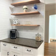 Industrial Floating Shelves, Reclaimed Wood Shelves, Floating Shelves Kitchen, Pipe Shelves, Wood Shelf, Rustic Shelves, Kitchen Shelves, Shelving, Farmhouse Style