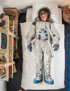 Dekbed overtrek astronaut