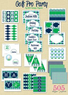 Printable Golf Party Decorations  Full Collection by 505design, $30.00