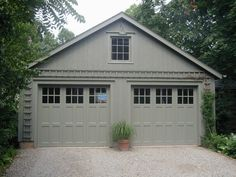Multi-Rectangular Windows Double Garage Doors