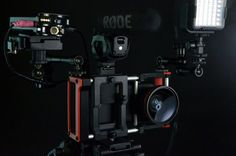 Camera flash attached to the Beastgrip