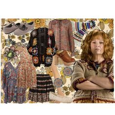 Molly Weasley by madameguillotine on Polyvore featuring Topshop, Forever 21, Jeffrey Campbell, ALDO, Ollipop and mrs molly…