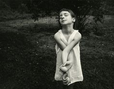 Emmet Gowin. 'Nancy, Edith's niece in Danville (Virginia)' 1969. I absolutely love this photograph, one of my favourite by that classical American photographer Emmet Gowin (who trained under Harry Callahan).