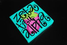 Zeta Tau Alpha painted canvas small by sassifrassi on Etsy, $12.00