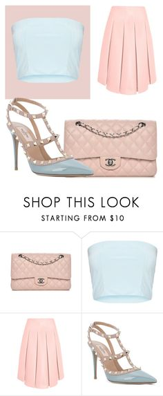 """""""I'm in a pastel mood"""" by gonnabelittt on Polyvore featuring Chanel, Simone Rocha and Valentino"""