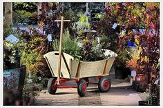Traditional Pull-Along Wooden Cart