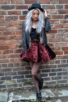 Grunge look working velvet x