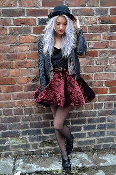 I love this velvet style via Tumblr