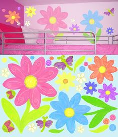 Little Flower Walls Mural | Luv Bugs And Flowers Create A Wall Mural   Wall  Sticker