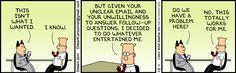 I wonder if bosses read Dilbert daily comic strips.
