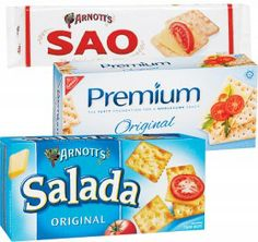 Arnott's Sao, Salada 250g or Nabisco Premium Crispbread 150-250g