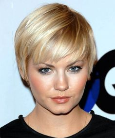 Short+Haircuts+For+Round+Faces+And+Plus+Size | Elisha Cuthbert With Pixie Cut - Free Download Elisha Cuthbert With ...