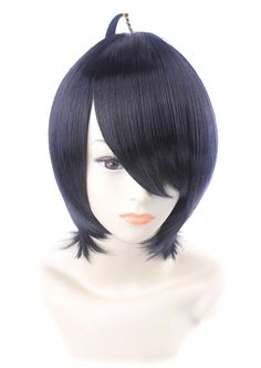 FENGSHANG Araragi Koyomi Cosplay Short Wigs Anime Blue Black 14 Inches * Visit the image link more details.