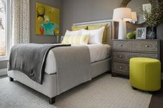 A home away from home, this cheerful bedroom with five-star amenities is sure to prompt an extended stay. From the experts at HGTV.com.