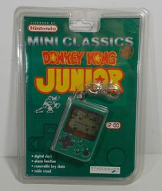 1998 KEY-CHAIN LCD VIDEO GAME NINTENDO DONKEY KONG JUNIOR MINI CLASSICS GAME BOY #NINTENDO