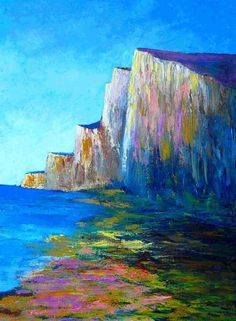 falaises de Normandie / Normandy cliffs  © isabelle garnier ..  Love the use of color in this.