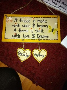 handmade home plaque  https://www.facebook.com/pages/Handmade-with-Love/457557890986579